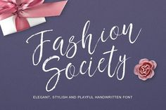 Fashion society handwritten font by HeArt Lab on @Graphicsauthor