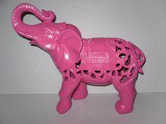 elephant decor | Pink Elephant /Elephant Statue / Home Decor / Nursery / Girls Room ...