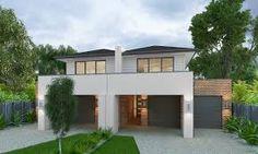 duplex designs australia - Google Search (angled grass front yard)