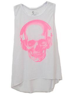 Regatão Caveira Headphone Rosa! #regata #art #skull #headphone #girls #moda #fashion #pink #caveira #outfit