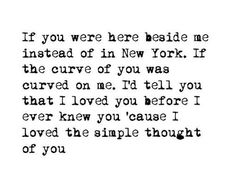 New York - Snow Patrol <3 #quote #romance #nyc
