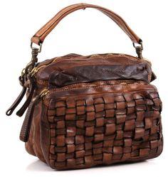 Campomaggi Lavata Satchel Leather cognac 27 cm - C1381VL-1702 - Designer Bags Shop - wardow.com