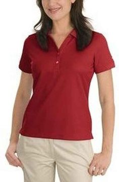 Dri-Fit fabric technology in this womens dri-fit classic golf polo shirt by Nike delivers superior moisture management to keep you dry and comfortable Womens Golf Shirts, Golf Polo Shirts, Sports Shirts, Logo Nike, Corporate Wear, Corporate Chic, Classic Golf, Knit Shirt, Nike Golf