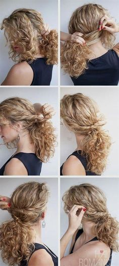 Hair-Romance-curved-lace-braid-updo-hairstyle-tutorial Because it's a Pony Party, and you're all invited. Curly Hair Dos, Curly Hair Styles, Natural Hair Styles, Hair Romance Curly, Curly Hair Updo Tutorial, Curly Bun, Updo Hairstyles Tutorials, Braided Hairstyles Updo, Cool Hairstyles
