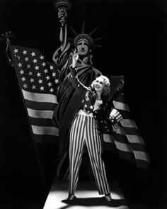 <3 Happy Veterans Day! Thankful to all those who serve and served, sacrificing everything for our beautiful country! Joan Blondell in her Uncle Sam outfit standing proud, 1930