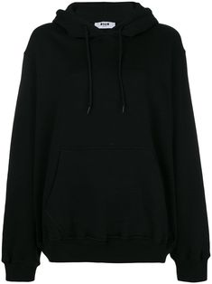 Shop online black MSGM logo print hoodie as well as new season, new arrivals daily. Kawaii Clothes, Msgm, Black Cotton, Ideias Fashion, What To Wear, Women Wear, Cute Outfits, Sweatshirts, Shopping