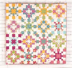 Enjoy a fresh fabric bouquet every day with the Solstice Quilt Kit from Moda! You'll receive a pattern and fabric from April Rosenthal's Meadowbloom line to sew this vibrant quilt top. Featuring an array of florals and modern motifs, this colorful design is the perfect way to bring the beauty of a blossoming garden indoors.