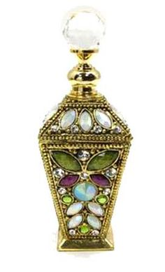 Well Jeweled Multi Jeweled Perfume Bottle
