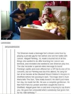 just another reason to love Ed Sheeran.