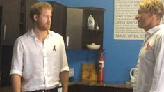 Prince Harry joins group discussion at Surfers Not Street Children project in Durban