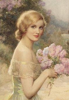36 Best Ideas For Vintage Women Illustration Children Vintage Pictures, Vintage Images, Vintage Art, Vintage Ladies, Vintage Woman, Victorian Paintings, Victorian Art, Victorian Ladies, Vintage Paintings