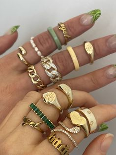 Nail Jewelry, Trendy Jewelry, Cute Jewelry, Jewelry Trends, Gold Jewelry, Jewelry Accessories, Gold Bangles, Jewlery, Gold Rings