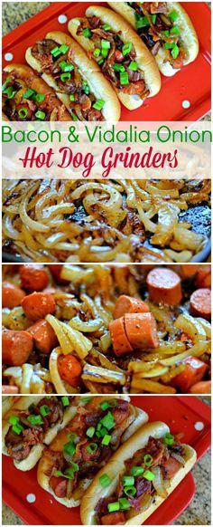 Bacon & Vidalia Onion Hot Dog Grinders Recipe!!!  ~XOX  #MomAndSonCookingTeam