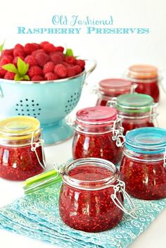 So easy and so full of fresh raspberry flavor. These will be like delicious little jars of sunshine on cold winter mornings - and It will take you less than 30 minutes to make 6 jars of jam!