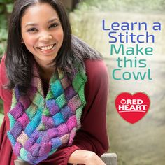 Learn a Stitch, Make this Cowl -- Learn to knit entrelac with a step-by-step tutorial, then enter for a chance to win the yarn to make this cowl.