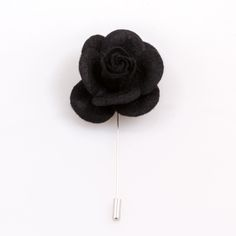 $12.99. www.ustylellc.com. Meticulously custom handmade in the USA to the most dapper of specifications. These black felt lapel flowers are a must have accessory. Each flower is handmade in the USA. Dimensions: Approximately 1.7 in diameter.  Stem is silver and measures 2.5 inches or 6.35 cm.  Description & Photo Copyright © 2014 Ubiquitous Style, LLC, www.ustylellc.com