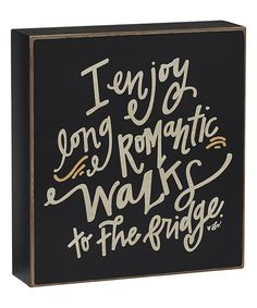 Collins Long Romantic Walks Box Sign