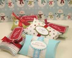 Christmas Pillow Boxes