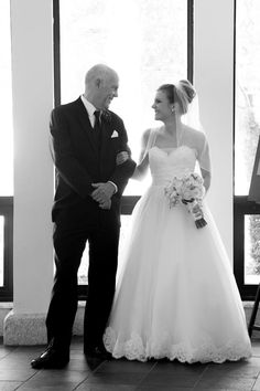 Precious photo of Kathleen and her Father. Congratulations to this Anne Barge bride from @Angie Hamilton Bridal Designer House