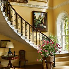 The cantilevered staircase Bowood House an eighteenth-century English country house with grand Robert Adam interiors and Capability Brown landscapes - stately homes on HOUSE.