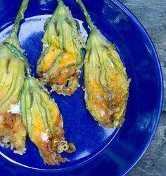 Goat Cheese Stuffed Zucchini Flowers Recipe