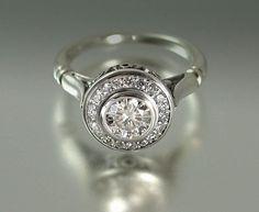 THE SECRET DELIGHT 14k gold White Sapphire by WingedLion on Etsy, $1,190.00    My favorite engagement ring. Lovely