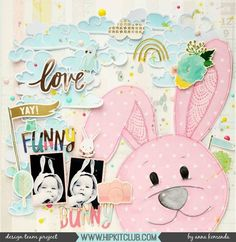 Isn't this the cutest bunny you have ever seen? Designer @moriony created this gorgeous bunny and whimsical layout to go with it using the #march2017 #hipkits! So cute! @hipkitclub #hipkitexclusives #hkcexclusives #exclusives #hipkit #hipkitclub #silhouettecameo #cutfiles #bunny #scrapbooking #scrapbooklayout #papercrafting #kitclub #scrapbookingkitclub #colors #layers #dimension #pastels @dearlizzy #lovelyday @pinkfreshstudio #dreamon @shimelle #littlebylittle