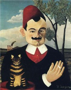 Henri Rousseau (Le Douanier) [French, - Portrait of Pierre Loti (or Monsieur X), c. 1906 - Oil on canvas - Kunsthaus, Zürich Oil Canvas, Canvas Art, Canvas Paintings, Henri Rousseau Paintings, Avant Garde Artists, Art Ancien, Post Impressionism, Norman Rockwell, Art Moderne