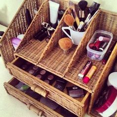 Cute Makeup storage.. I need one of these for all my makeup!