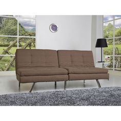 Memphis Coffee Double Cushion Futon Sofa Bed - Overstock™ Shopping - Great Deals on Sofas & Loveseats