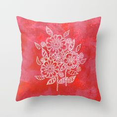 Pink flowers Throw Pillow by seelas Handicraft, Pink Flowers, Throw Pillows, Free, Craft, Toss Pillows, Cushions, Arts And Crafts, Decorative Pillows