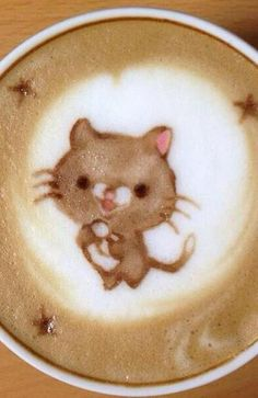 Kitty Latte Art  →follow← my board ♡ͦ* ¢σffєє σвѕєѕѕє∂ ♡ͦ* @ ★☆Danielle ✶ Beasy☆★