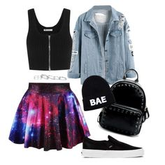 """""""Back to School #3"""" by predilectionist ❤ liked on Polyvore featuring T By Alexander Wang, Vans, Domo Beads and Kendra Scott"""