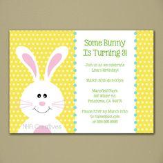 Birthday Bunny Party Invitation - Personalized DIY Printable Digital File. $12,50, via Etsy.