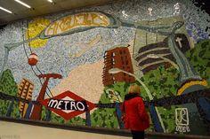 Estación de Metro Argüelles, Madrid, España