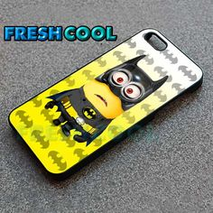 AJ 2052 Funny Batminion Design - iPhone 4/4s/5 Case - Samsung Galaxy S2/S3/S4 Case - Black or White by FreshCool on Etsy