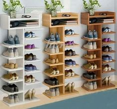 Diy Storage Cabinets, Diy Storage Shelves, Diy Storage Bench, Shoe Storage Cabinet, Storage Hacks, Shoe Racks For Closets, Shelves For Shoes, Craft Cabinet, Shop Storage