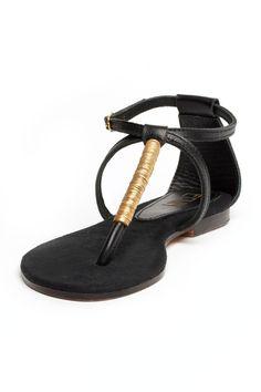 72742e339934 Edun Zanzibar sandal. Designed by Doreen Mashika. Handcrafted in Tanzania.  Gold Sandals