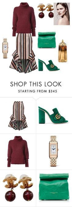 """""""bordeaux"""" by cristina-2017 ❤ liked on Polyvore featuring Theo, Gucci, BY. Bonnie Young, Jaeger-LeCoultre, Chanel, Simon Miller and Thierry Mugler"""