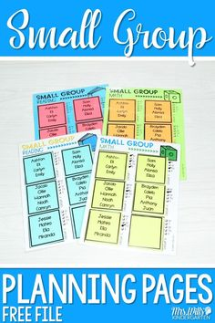 Teach Your Child To Read - FREE small group planning pages for guided reading or guided math. Organize your kindergarten or first grade lesson plans now! - TEACH YOUR CHILD TO READ and Enable Your Child to Become a Fast and Fluent Reader! Guided Math, Guided Reading, Teaching Reading, Teaching Spanish, Teaching Math, Small Group Reading, Reading Groups, Kindergarten Lesson Plans, Kindergarten Classroom