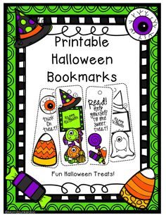 printable halloween bookmarks perfect non food treat for students or friends halloween - Halloween Bookmarks To Color
