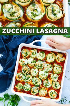 Zucchini Lasagna Roll-Ups - an easy, healthy keto dinner recipe! | Treat yourself to these low-carb and keto zucchini lasagna roll-ups! They have all of the flavor of a traditional lasagna recipe without the unnecessary carbs. Plus, these zucchini lasagna rolls are naturally gluten-free, too! #evolvingtable #lowcarb #keto #zucchini #lasagna