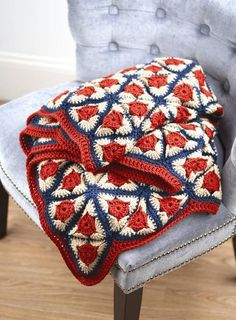 "- Photo by F W/Krause, the pattern is in the book ""Go Crochet! Afghan Design workbook"""