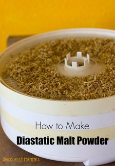 But this homemade diastatic malt powder is magic for bread-baking. It makes your loaves rise higher, brown more beautifully, and taste delicious. Flour Recipes, Vegan Recipes, Sprout Recipes, Sourdough Bread, How To Make Bread, Bread Baking, Powder, Homemade, Eat