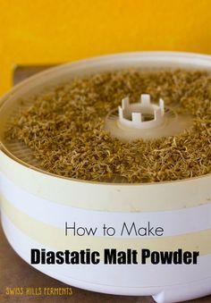 How to make diastatic malt powder Flour Recipes, Vegan Recipes, Sprout Recipes, Sourdough Bread, How To Make Bread, Bread Baking, Powder, Homemade, Cooking