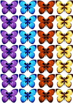 Butterfly Crafts, Butterfly Art, Butterflies, Teaching Colors, Yellow Nails, Birthday Cake Toppers, Craft Supplies, Clip Art, Graphic Design