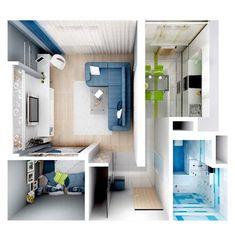 однокомнатная квартира дизайн - Поиск в Google