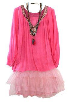 Tunique rose et sequins grande taille www.soobysophie.com