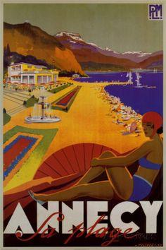 Playa de Annecy Póster