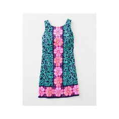 Lilly Pulitzer® Delia Shift Dress (1,300 CNY) ❤ liked on Polyvore featuring dresses, lilly pulitzer, oversized dress, zipper dress, zip dress, short dresses and garden party dress